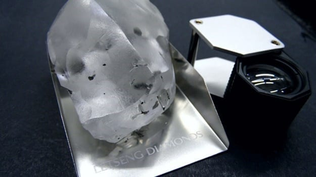 Largest ever diamond found at Letšeng!