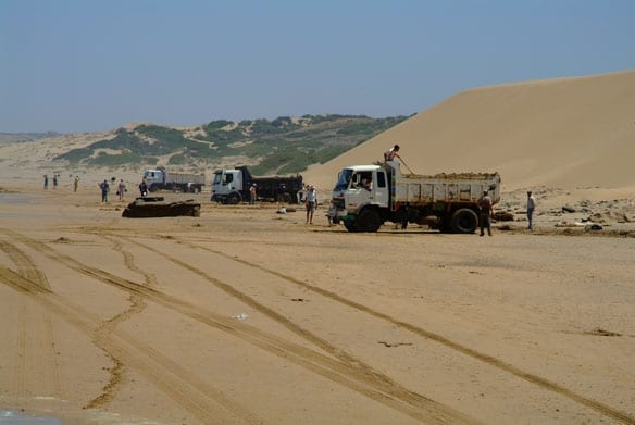 Governemnt asks Uukwambi Authority to stop sand mining