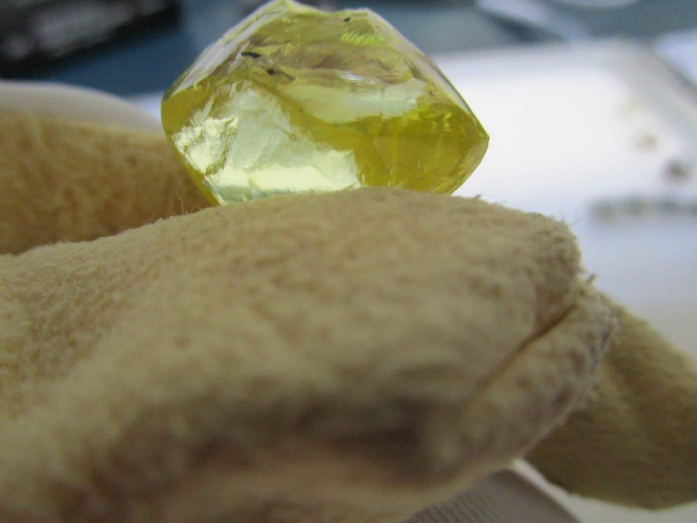 Recovery of 54 carat fancy yellow diamond