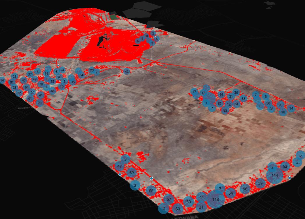 Satellite-based safe mine operation monitoring