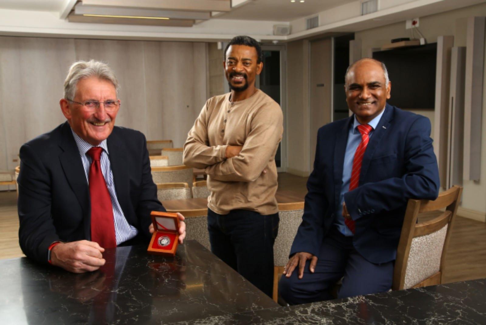 Roger Dixon awarded with Brigadier Stokes award