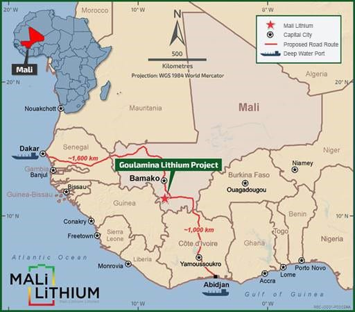 Mali Lithium unaffected by coup